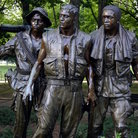 Picture - Statues at the Korean War Memorial in Washington.