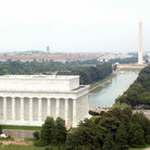 Picture - Top view of the Lincoln Memorial and reflecting pool in Washington.