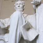 Picture - Close up of the Lincoln Memorial in Washington.
