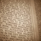 Picture - Inscription for the Lincoln Memorial in Washington.