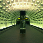Picture - Interior of the Metro Subway Station at Federal Triangle in Washington.