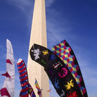 Picture - Banners at the base of Washington Monument.
