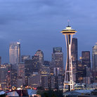 Picture - Seattle skyline in the evening.