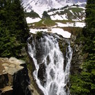 Picture - Myrle Falls and Mount Rainier.