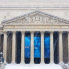 Picture - The Greek revival architecture of the National Archives Building, Washington.