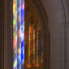Picture - National Cathedral door and window reflection,Washington.