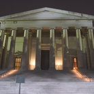 Picture - Night view of the National Art Gallery in Washington.