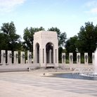 Picture - The Pacific Side of the National World War II Memorial in Washington.