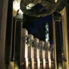 Picture - Night view of the World War II Memorial in Washington.