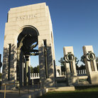 Picture - Arch at the World War II Memorial in Washington.