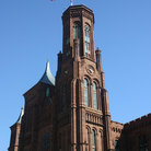 Picture - The Smithsonian Castle and national mall in Washington.