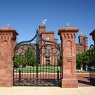 Picture - The gates to the Smithsonian Institute / Castle in Washington.