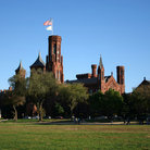 Picture - Smithsonian Castle from The mall in Washington.