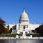 Picture - Front view of the United States Capitol in Washington.