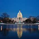 Picture - Blue of night over the US Capitol building, Washington.
