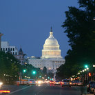 Picture - Looking down the street to the United State Capitol Building in Washington.
