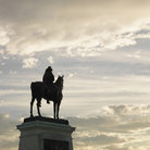 Picture - Equestrian statue on top of the Capitol Building in Washington.