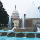 Picture - Fountain and Capitol Hill, Washington.