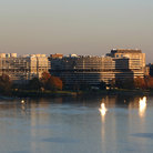 Picture - Looking across the water to the Watergate Complex in Washington.