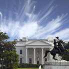 Picture - Statue in front of the White House in Washington.