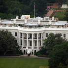 Picture - Aerial view the White House, Washington.