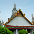 Picture - Roof tops of Wat Arun in Bangkok.