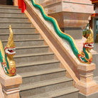 Picture - Stairs to Wat Chalong in Phuket.