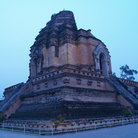 Picture - Evening at the Wat Chedi Luang in Chiang Mai.