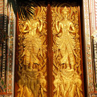 Picture - Doors to the Wat doi Suthep temple in Chiang Mai.