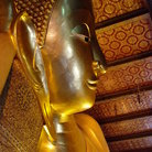 Picture - The intricately inlaid 1.5m-high feet of the reclining Buddha in Wat Pho, Bangkok.