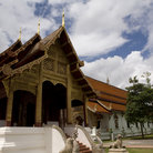 Picture - One of the buildings located at Phra Singh Temple, Chiang Mai.