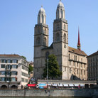 Picture - Church with the name Grossmuenster in Zurich.