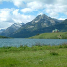 Picture - View to the Prince of Whales Hotel in Waterton National Park.