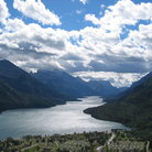 Picture - Clouds over the water at Waterton Lakes National Park.