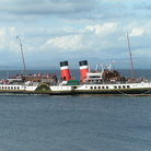 Picture - The Waverley Paddle Steamer in motion.