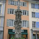 Picture - The Weinmarkt fountain in Lucerne.