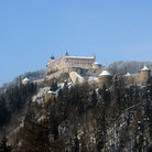 Picture - Snow around the Werfen Castle.
