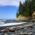 Picture - A rocky beach along the West Coast Trail on Vancouver Island.