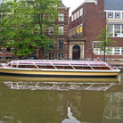 Picture - Tour boats on Leidsegracht in Amsterdam.