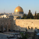 Picture - Wailing wall and Temple Mount in Jerusalem.