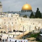 Picture - The Western Wall and Dome of the Rock in Jerusalem.