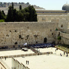 Picture - Worshippers at the Western Wall in Jerusalem.