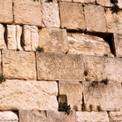 Picture - Detail of the Western Wailing Wall in Jerusalem.