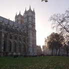 Picture - The grounds of Westminster Abbey in London.