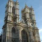 Picture - Front view of Westminster Abbey in London.