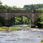 Picture - Crenelated Bridge over the River Wharfe.