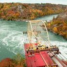 Picture - View over the Whirlpool Aero Car near Niagara Falls.