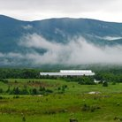 Picture - Farmland in the White Mountains, New Hampshire.