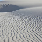 Picture - Windswept gypsum dunes and patterns at White Sands National Monument.