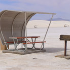 Picture - Shelter in the desert at White Sands National Monument, New Mexico.
